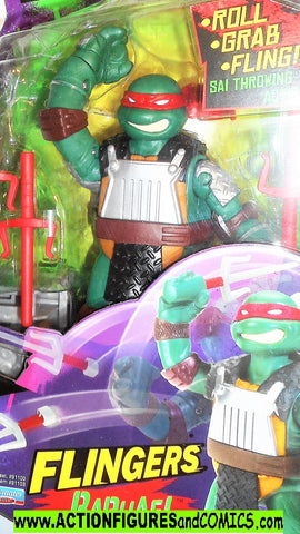 teenage mutant ninja turtles RAPHAEL flingers 6 inch playmates moc