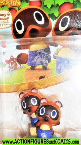 World of Nintendo Animal Crossings TIMMY TOMMY Racoons Amiibo moc