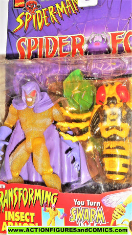 Spider-man the Animated series SWARM 1997 spider force toy biz moc
