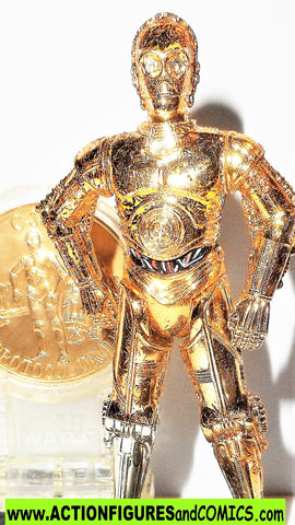 star wars action figures C-3PO protocol droid millenium coin complete