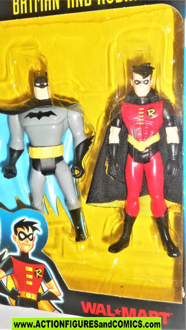 batman animated series BATMAN and ROBIN walmart exclusive moc mip mib