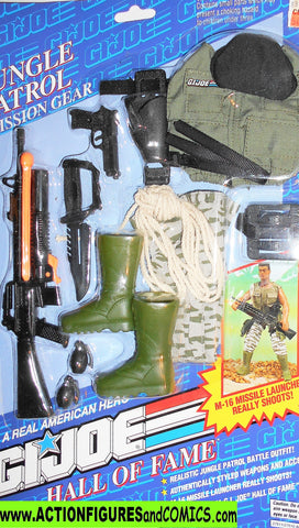 Gi joe 12 inch JUNGLE PATROL Mission Gear 1993 hall of fame moc