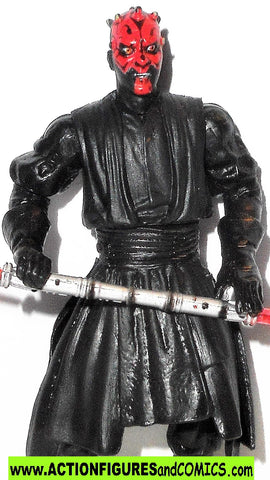 star wars action figures DARTH MAUL theed hanger duel hall of fame 2003 action figure moc