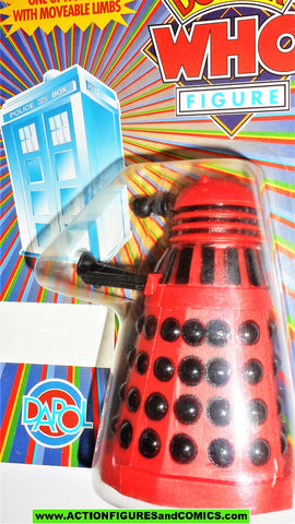 doctor who action figures DALEK dapol UNPUNCHED red black vintage dapol moc 443