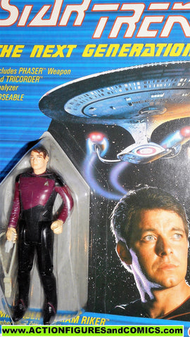Star Trek COMMANDER RIKER 1988 galoob toys action figures moc