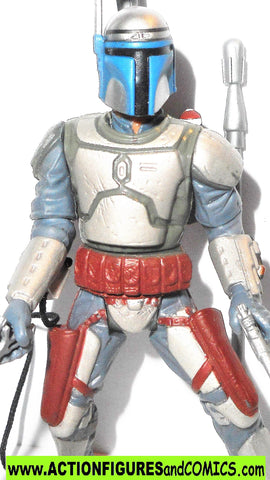star wars action figures JANGO FETT kamino escape 2002 attack of the clones