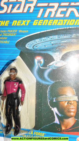 Star Trek GEORDI LA FORGE 1988 galoob toys action figures moc