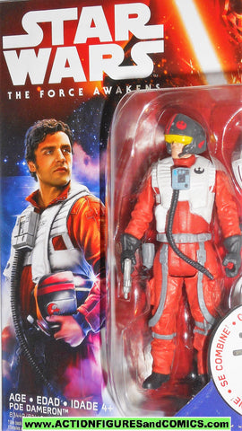 star wars action figures POE DAMERON x-wing pilot the force awakens movie moc