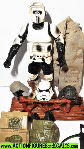 star wars action figures BIKER SCOUT Endor VICTORY accessory kit