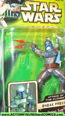 Star wars action figures JANGO FETT attack of the clones sneak preview 2002 moc