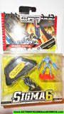 Gi joe SNAKE EYES BAT cobra mission ninja night parachute SIGMA 6 SIX moc