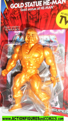 Masters of the Universe GOLD HE-MAN Super 7 cartoon vintage golden retro moc