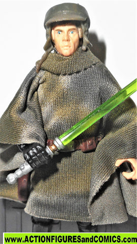 star wars action figures LUKE SKYWALKER ENDOR PONCHO 044 2006 Saga