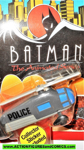 batman animated series Ertl GOTHAM CITY POLICE HELICOPTER die-cast metal moc