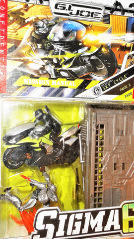 Gi joe BAT SNAKE EYES cobra Mission SKY CYCLE motorcycle SIGMA 6 SIX moc