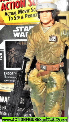 star wars action figures ENDOR REBEL trooper 1997 complete power of the force ff