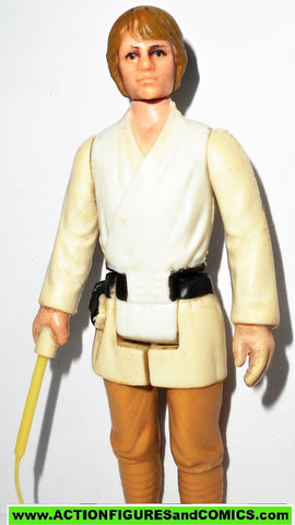 star wars action figures LUKE SKYWALKER 1977 Complete BROWN HAIR vairant