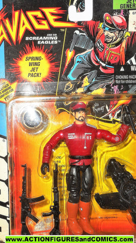 Gi joe GENERAL BLITZ sgt savage JET PACK 1994 gijoe g i action figure moc