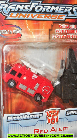 Transformers universe RED ALERT protectobots defensor micromaster 2004 moc