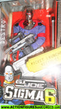 Gi joe DESTRO sigma 6 six 8 inch action figure hasbro moc mib