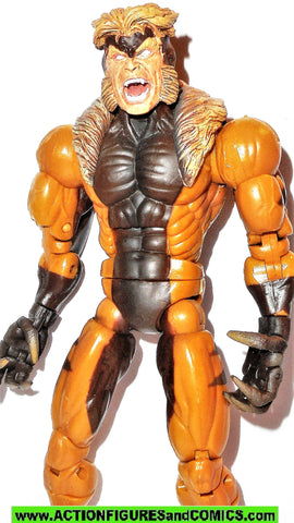 marvel legends SABRETOOTH series V 5 COMPLETE w diorama toy biz x-men
