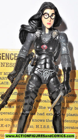 gi joe BARONESS 2007 v9 25th anniversary complete with FILE CARD