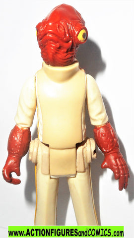 star wars action figures ADMIRAL ACKBAR 1983 kenner vintage 100% complete