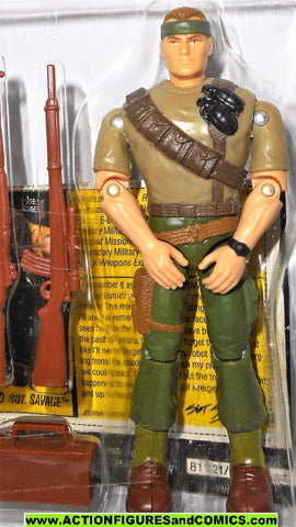 Gi joe SGT SAVAGE COMMANDO 1994 100% in tray gijoe g i moc