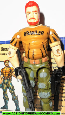gi joe BIG BRAWLER 2003 V2 tiger force RED HAIR VARIANT toys r us