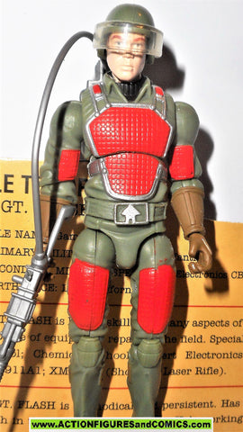gi joe FLASH 2008 v2 sgt 25th anniversary 100% COMPLETE w file card