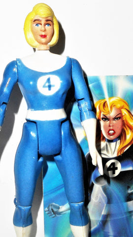 marvel universe toy biz INVISIBLE WOMAN w CHASE CARD fantastic four 4 1994