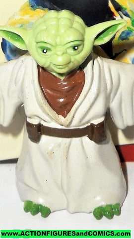 star wars action figures bend-ems YODA 1993 justoys trading card