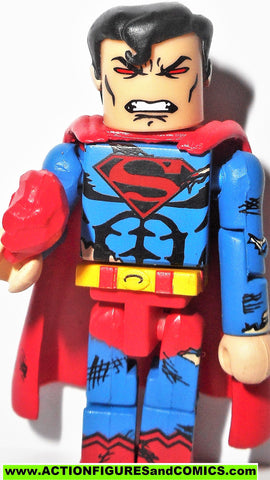 minimates SUPERMAN EVIL series 2 battle damaged red kryptonite dc universe wave