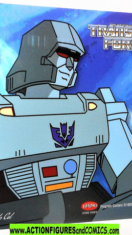 transformers Animation CEL MEGATRON 2002 Rhino DVD 1985 cartoon g1