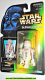 star wars action figures R5-D4 green card STRAIGHT LATCH power of the force 1996 moc