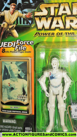 star wars action figures K-3PO hoth eco base power of the jedi moc