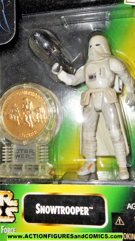 star wars action figures SNOWTROOPER HOTH millenium coin power of the force moc mib