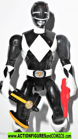 Power Rangers BLACK RANGER 5 inch Mighty Morphin then now bandai