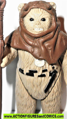 star wars action figures CHIEF CHIRPA EWOK 1983 vintage kenner complete