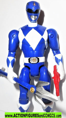 Power Rangers BLUE RANGER 5 inch Mighty Morphin then now bandai