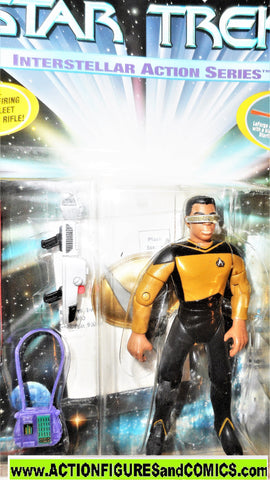 Star Trek GEORDI LAFORGE interstellar action series 1995 playmates moc