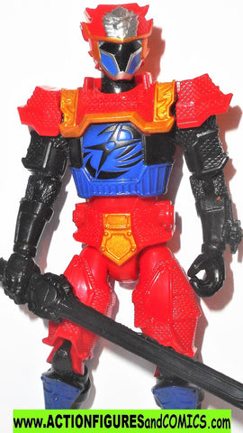 Power Rangers BLUE RANGER Lion Fire Armor 5 inch super ninja steel bandai
