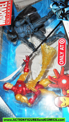 marvel universe BLACK PANTHER vs IRON MAN target store 2009 moc MIB