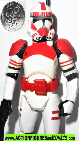 star wars action figures CLONE SHOCK TROOPER Red 30th 2007