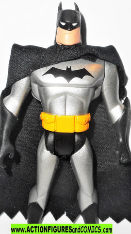 batman animated series BATMAN 2002 Mattel SILVER all black cape