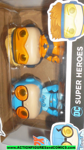 FUNKO POP dc super heroes BOOSTER GOLD BLUE BEETLE pops moc mib