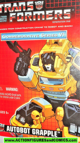 Transformers generation 1 GRAPPLE universe commemorative 2003 reissue