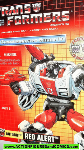 Transformers generation 1 RED ALERT universe commemorative 2003 reissue 000