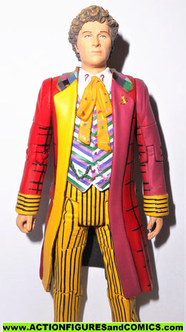 doctor who action figures SIXTH DOCTOR 6th DR Colin Baker YELLOW underground toys
