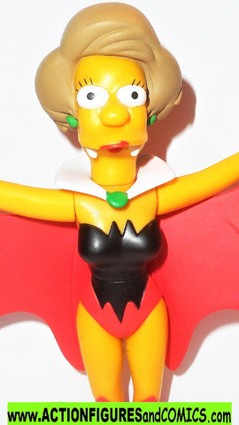Simpsons EDNA KRABAPPEL vampire Playmates world of springfield wos
